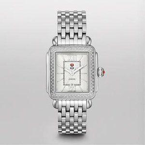 Michele Signature Deco Diamond Guilloché Dial